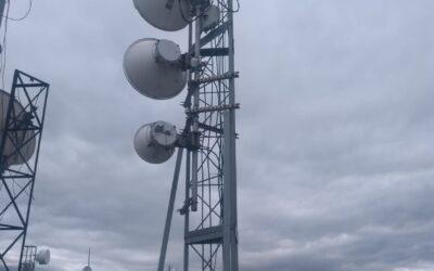 Nossas torres com rádios digitais instalados no Teleporto do Rio de Janeiro